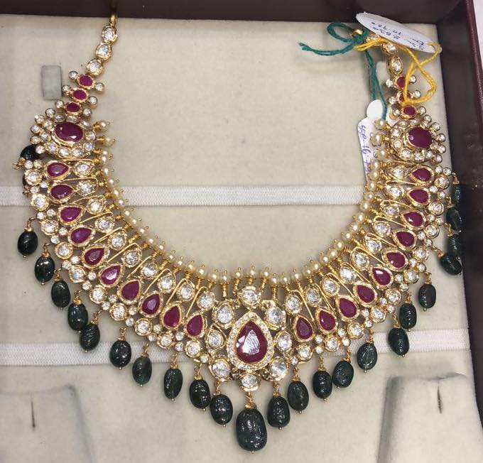 Gorgeous Gold Necklace From Premraj Shanthilal Jain Jewellers