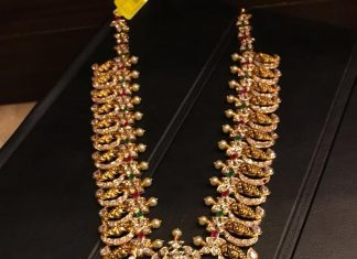 Lovely Long Mango Necklace From Premraj Shanthilal Jain Jewellers