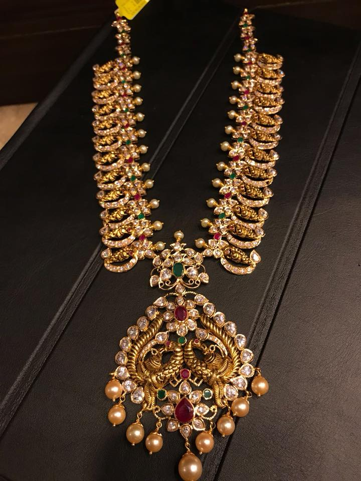 Lovely Long Mango Necklace From Premraj Shanthilal Jain Jewellers
