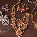 Multilayered Necklace Set From Aarvee Chennai