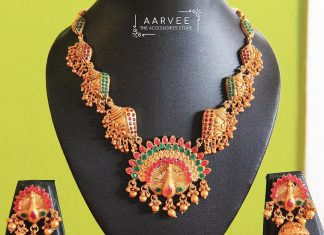 Peacock Ethnic Set From Aarvee Chennai