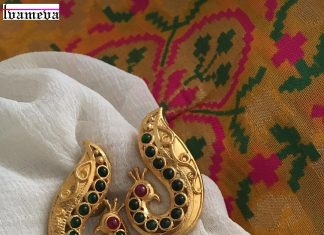 Silver Gold Plated Peacock Jhumka From Tvameva