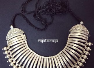 Silver Tribal Necklace From Rajatamaya