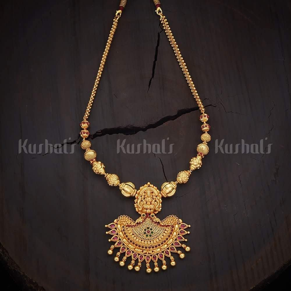 Simple Traditional Necklace From Kushal's Fashion Jewellery