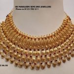 Stunning Gold Choker From Mahalakshmi Jewellers