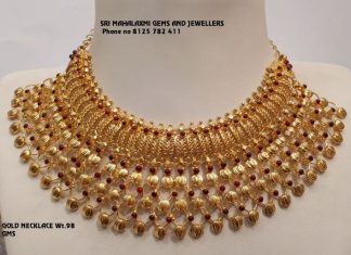 Stuuning Gold Choker From Mahalakshmi Jewellers