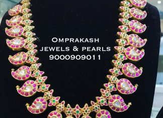 Precious Ruby Haram From Omprakashjewels