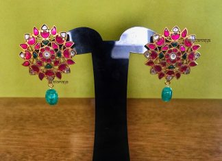 Trendy Kundan Earrings From Rajatamaya