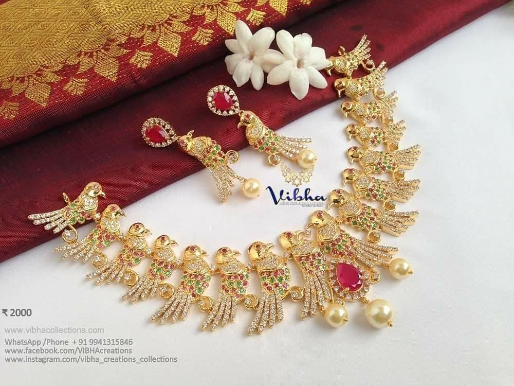 Unique Necklace Set From Vibha Creations