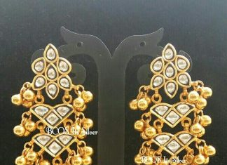 pure silver gold plated kundan bali From Bcos Its-Silver