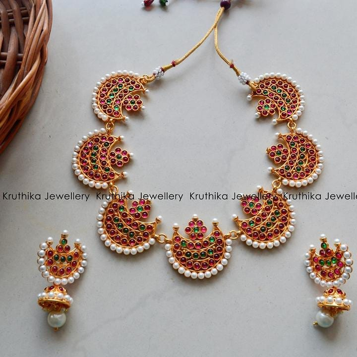 Beautiful pearl Kemp Necklace From Kruthika Jewellery