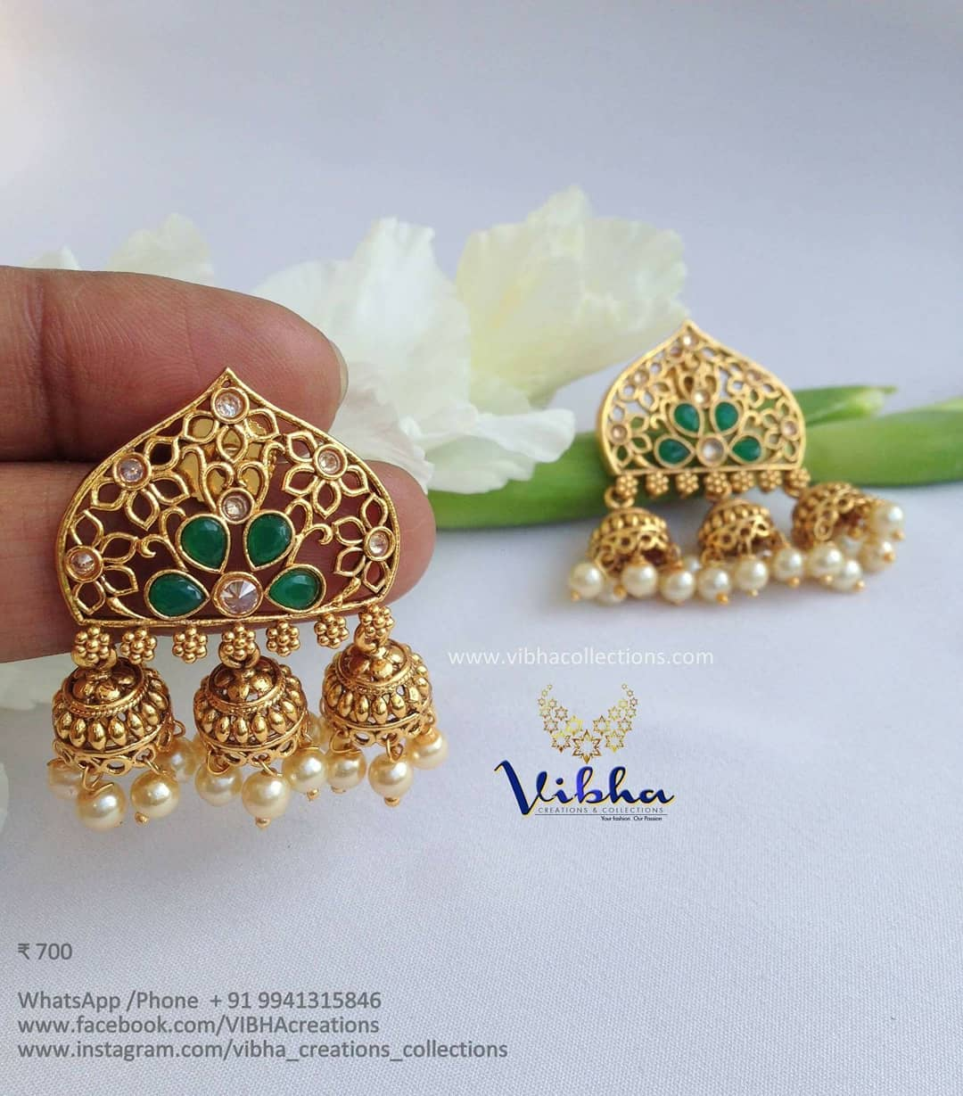 Beautiful Jhumka From Vibha Creations