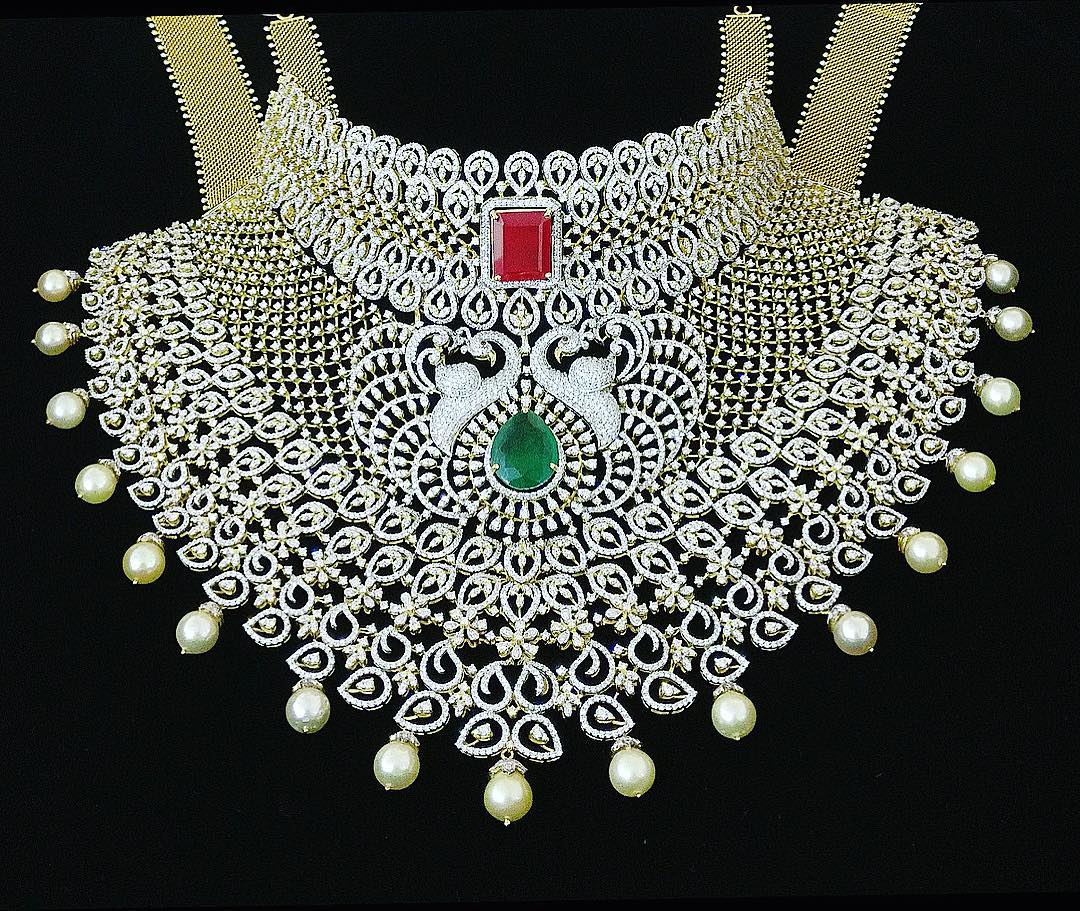 Bridal Diamond Choker P.Satyanarayan Sons Jewellers