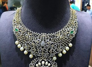 Charming Diamond Necklace From P.Satyanarayan Sons Jewellers