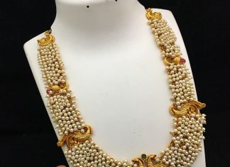Cluster Pearl haram From Kruthika Jewellery