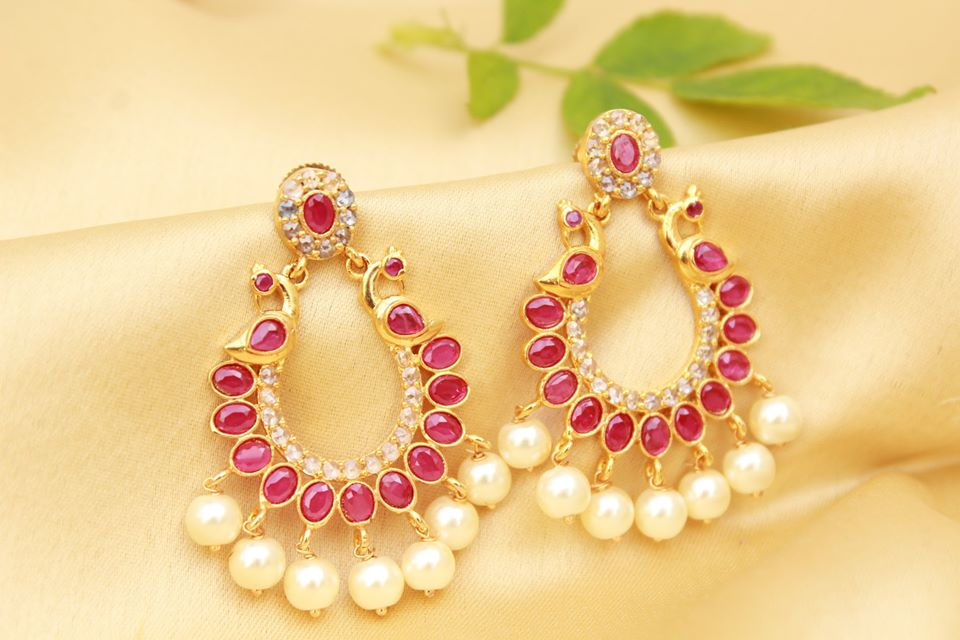 Cute Peacock Earring From Magha Store