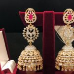 Decorative Diamond Jhumka From Premraj Shantilal Jain Jewellers
