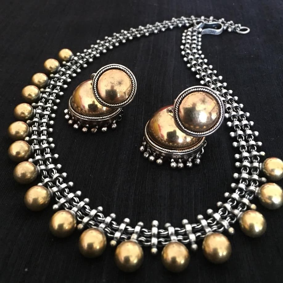 Dual Tone Necklace Set From Precious And You