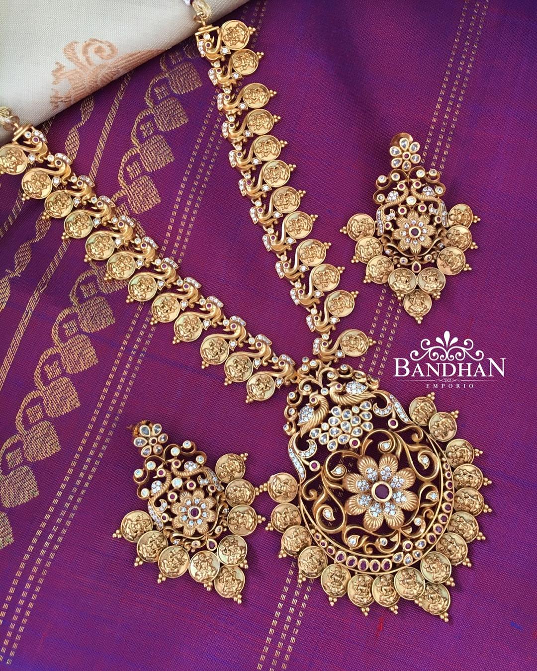 Elegant Long Necklace Set From Bandhan