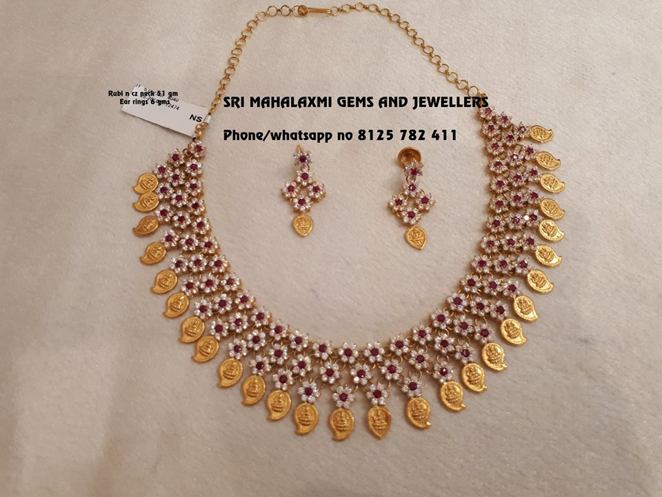 Gold Mango Necklace From Mahalakshmi Gems And Jewellers
