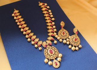 Pretty Long Necklace Set From Magha Store