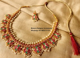 Traditional Pearl Necklace From Moksha Designer Acccessories