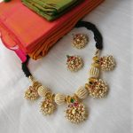 Traditional Set With Black Beads From Rimliboutique