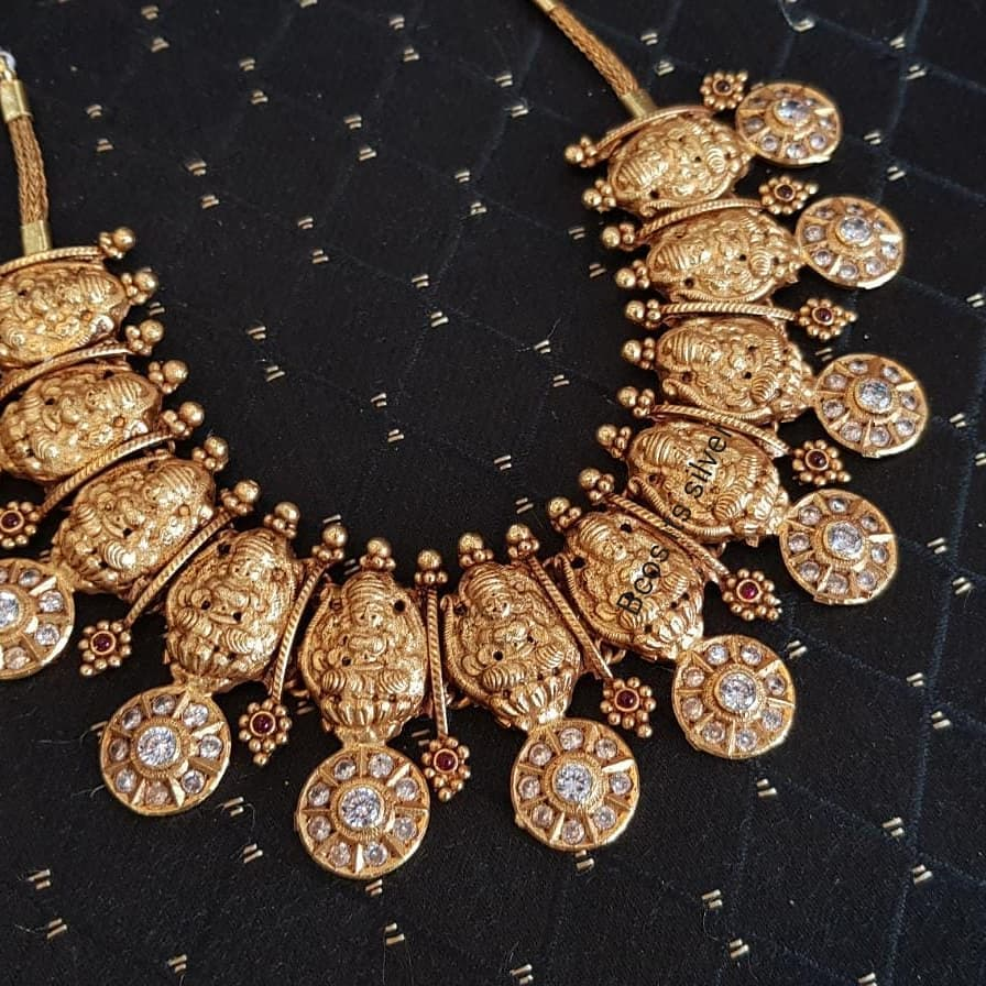 Trendy Temple Necklace From Bcos Its Silver