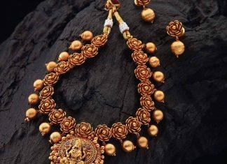 Auspicious Temple Set From Kushal's Fashion Jewellery