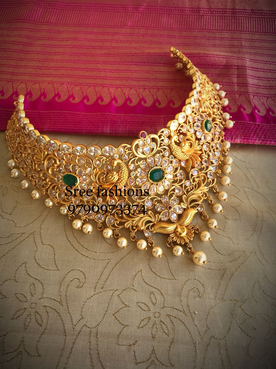 Beautiful Choker From Sree Exotic Jewelleries