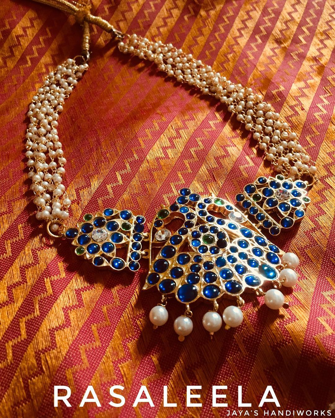 Beautiful Pearl Necklace From Jaya's Handiwork