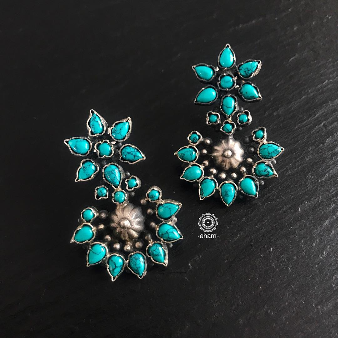 Beautiful Turquoise Earring From Aham Jewellery