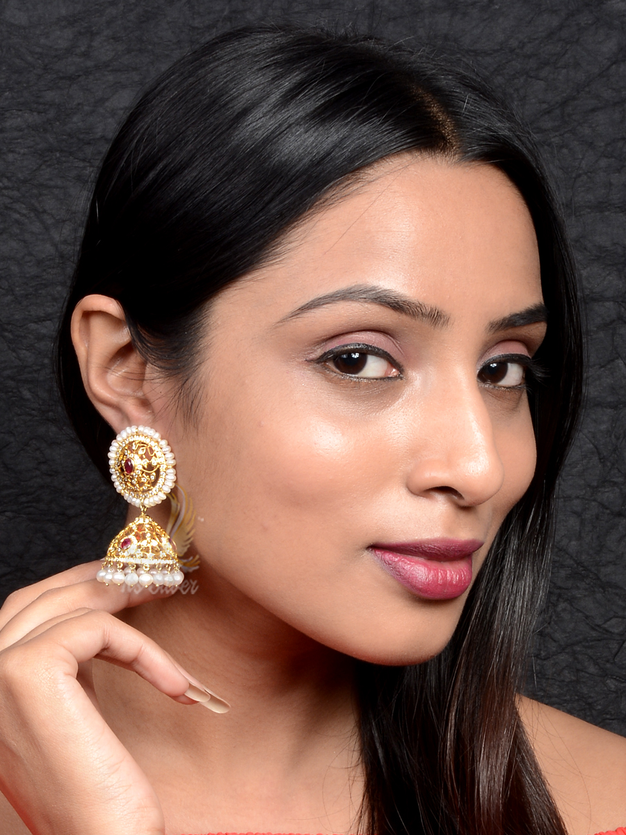 Beautiful Water Pearls Jhumka From Bcos Its Silver