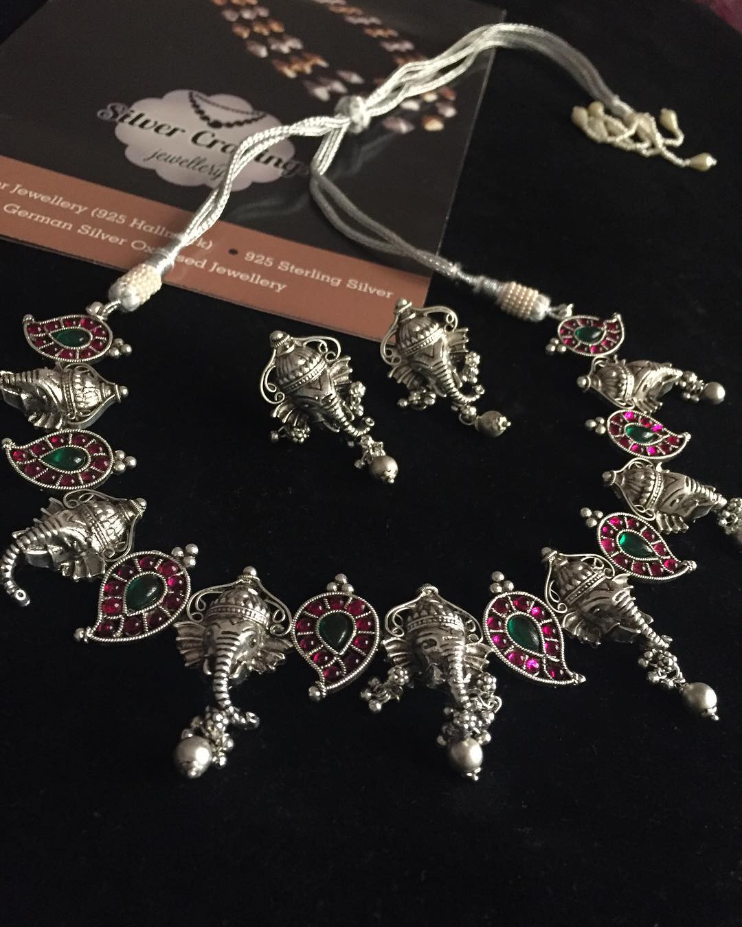 German Silver Ganesa Mango Necklace From Silver Cravings Jewellery