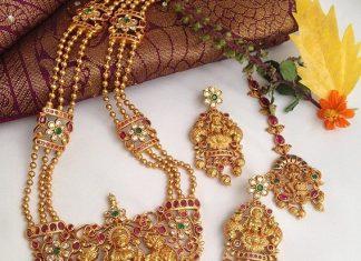 Mesmerizing Lakshmi Haram From Vibha Creations