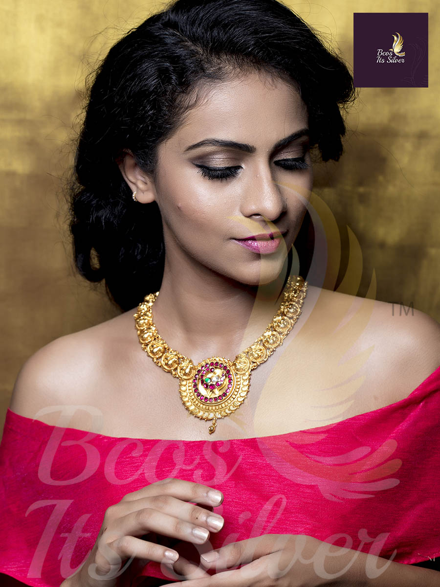 Precious Gold Plated Silver Necklace From Bcos-Its-Silver