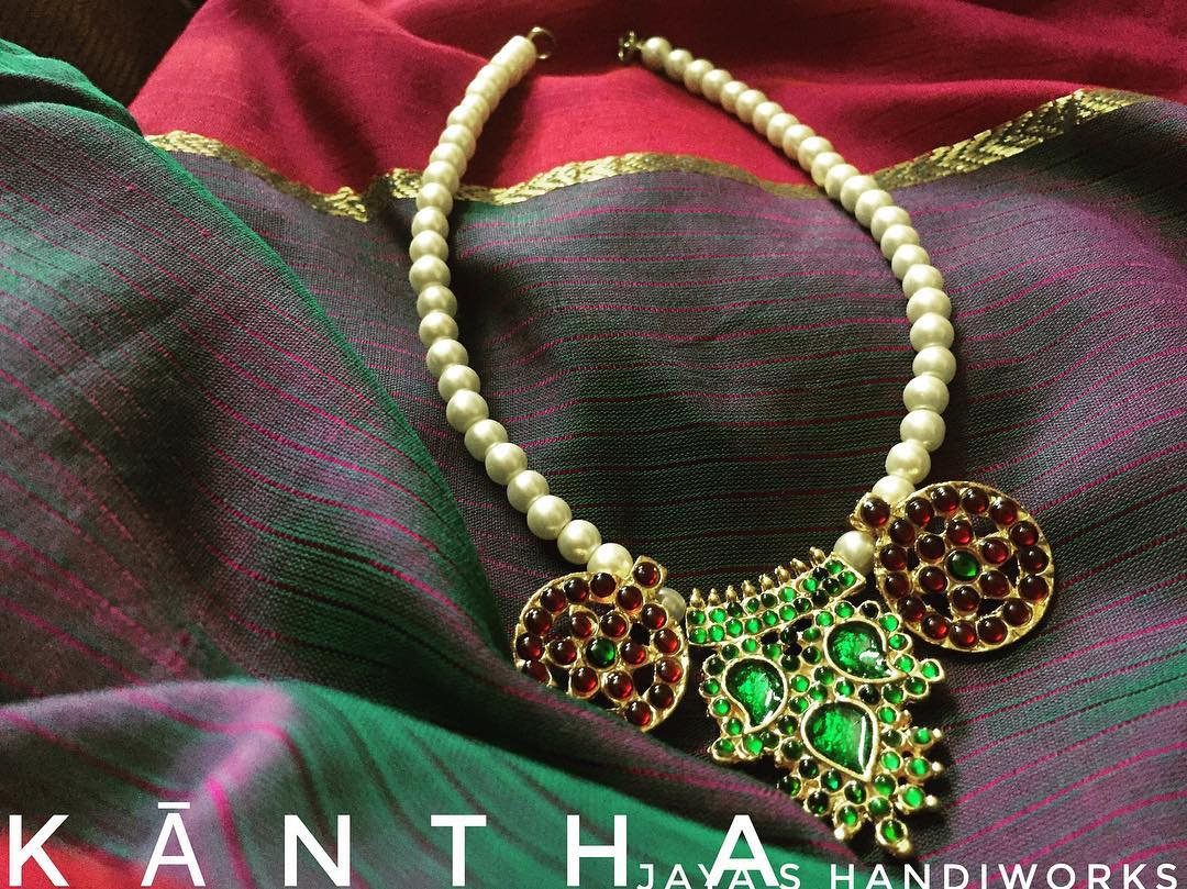 Pretty-Handmade Beaded Necklae From Jaya's Handiwork