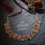 Simple Kemp Necklace From Aabharanam