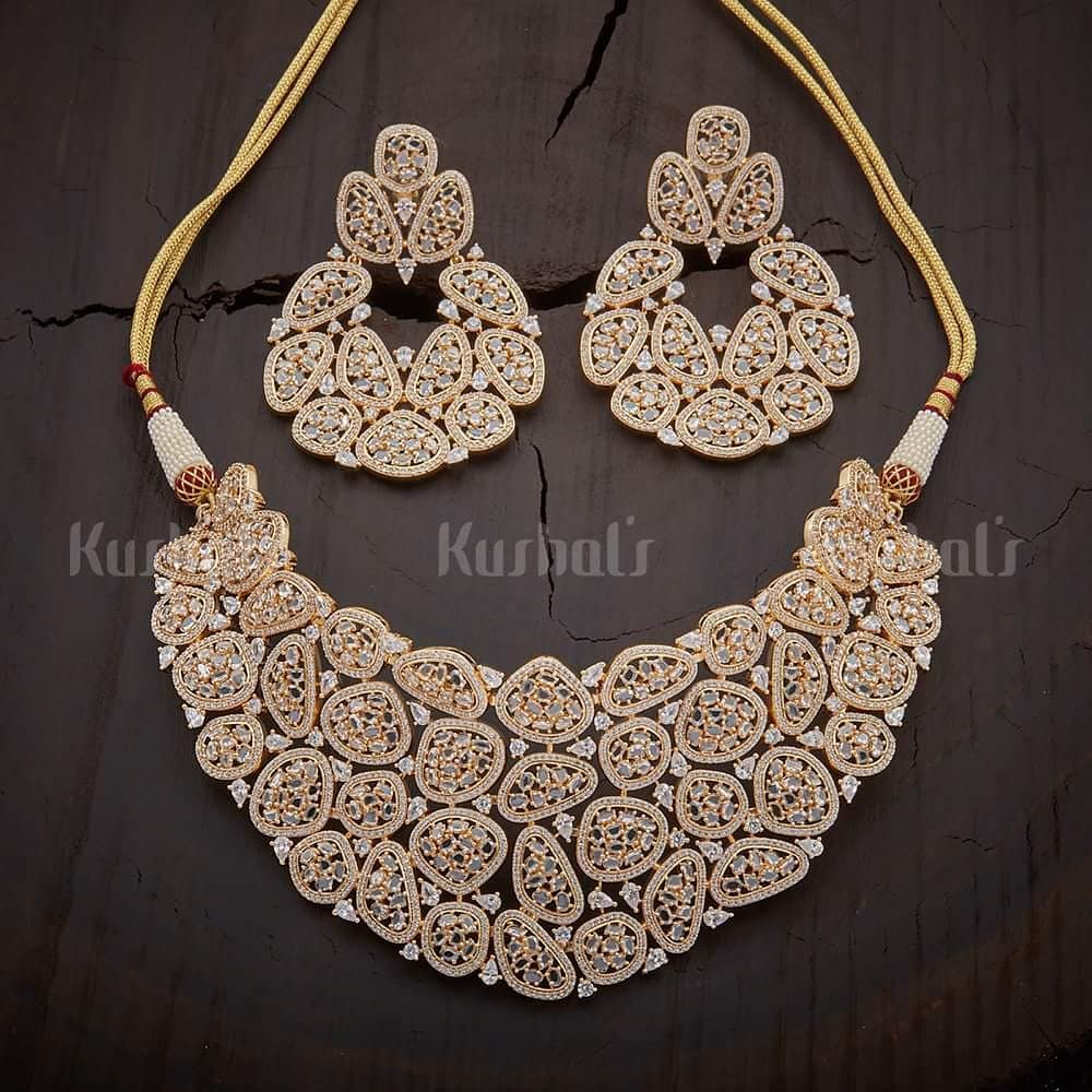 Sparklin Necklace Set From Kushal's Fashion Jewellery