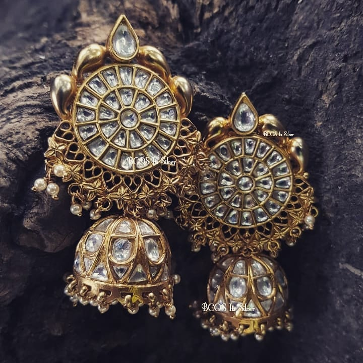 Stunning Jhumka From Bcos Its Slver