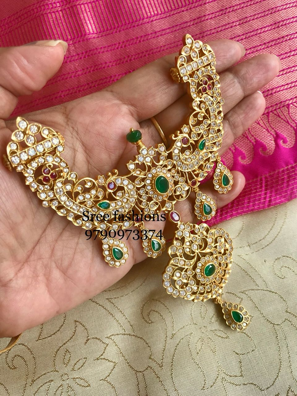 Stunning Stone Necklace From Sree Exotic Jewelleries