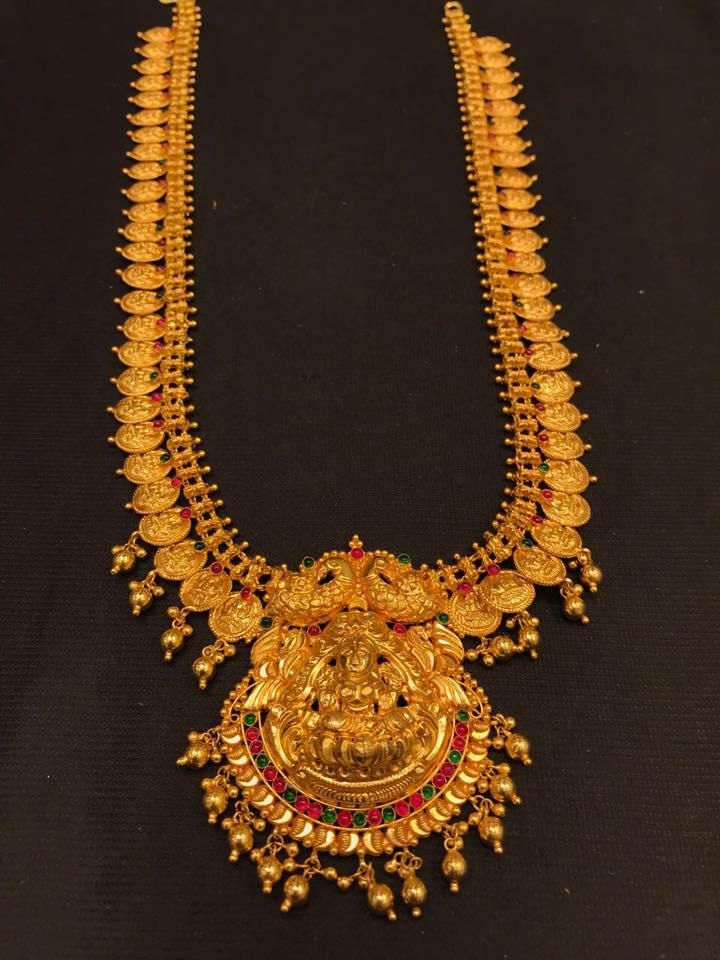 Temple-Kasu Mala From Premlal Shanthilal Jain Jewellers