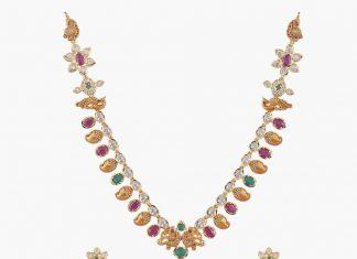 Temple Stone Mango Necklace From Tarinika
