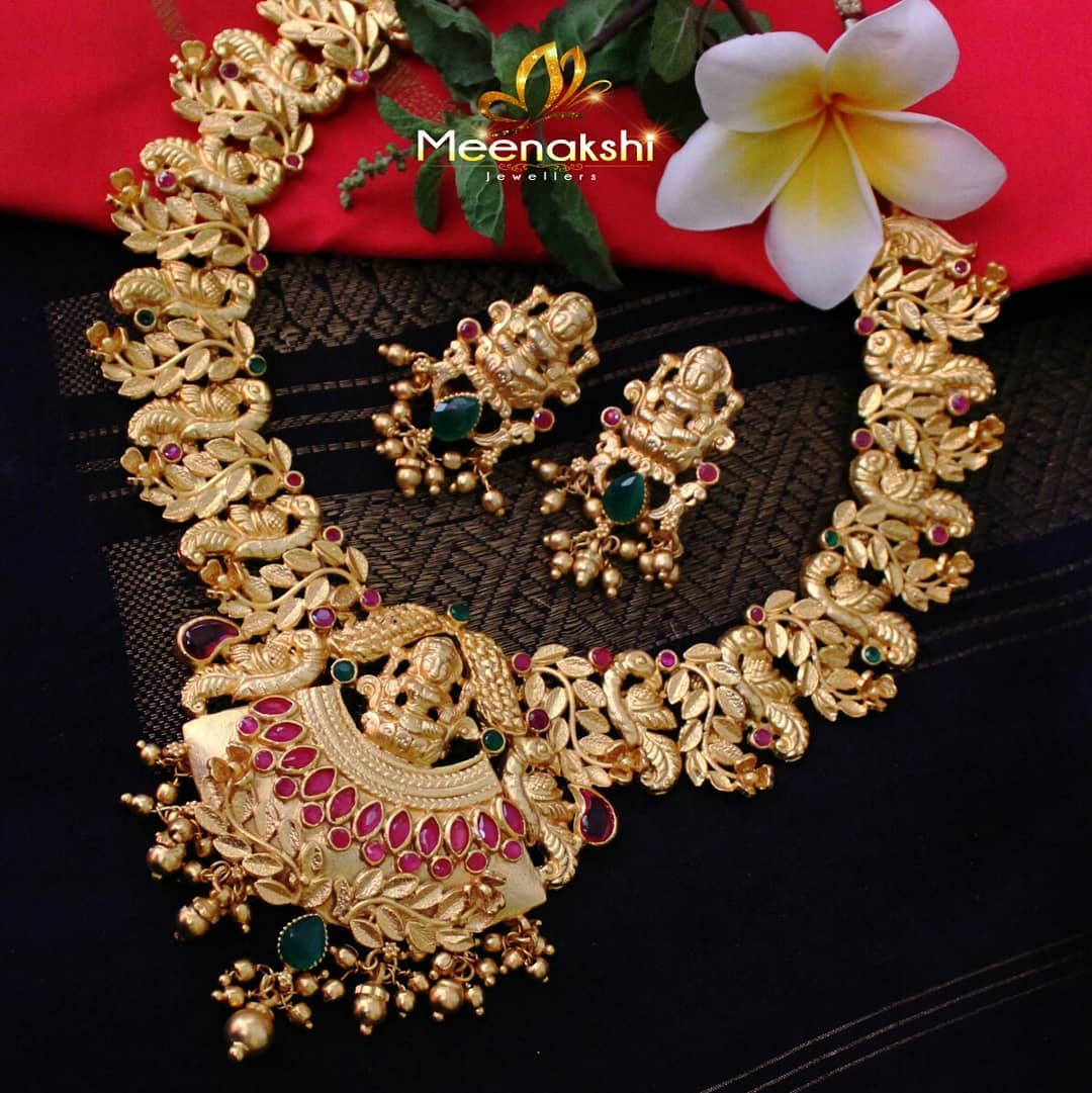 Traditional Necklace Set From Meenakshi Jewellers