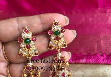 Traditional Stone jhumka From Sree Exotic Jewelleries