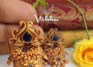 Beautiful Matt Finish Jhumka From Vibha Creations