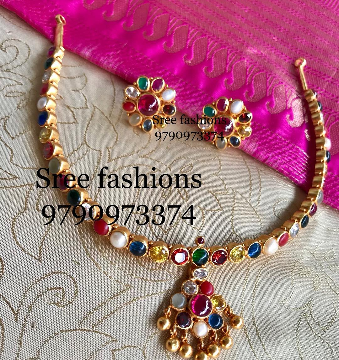Beautiful-Stone Necklace From Sree Exotic Silver Jewelleries
