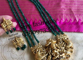 Beautiful Temple Long Necklace Set From Sree Exotic-Silver-Jewelleries