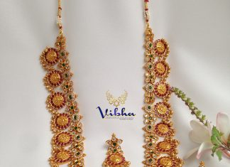 Classic Long Necklace Set From Vibha Creations
