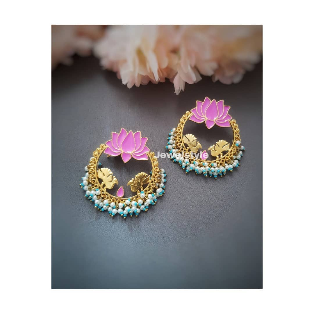 Cute Lotus Earrring From Jewelstyle